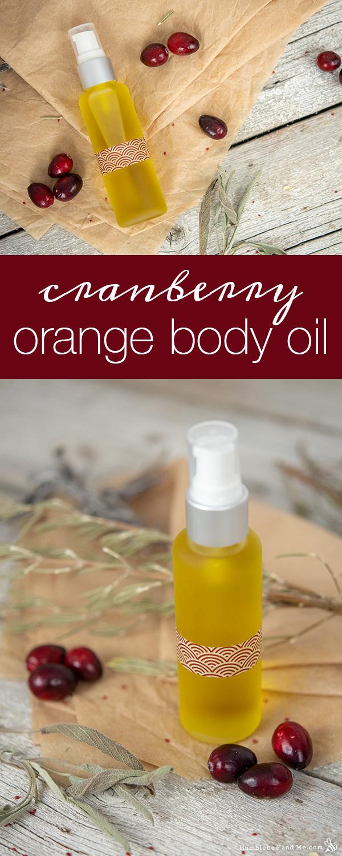 How to Make Cranberry Orange Body Oil
