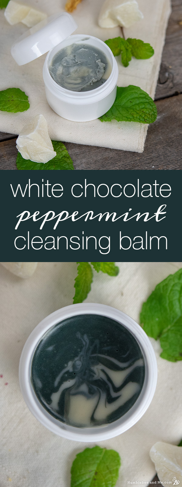 How to Make White Chocolate Peppermint Cleansing Balm