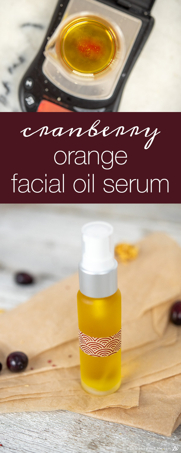How to Make Cranberry Orange Facial Serum