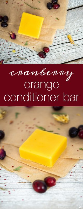 Cranberry Orange Conditioner Bar