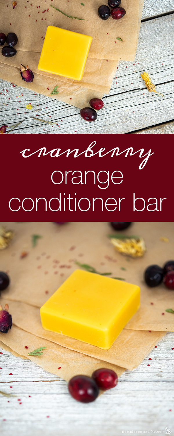 How to Make Cranberry Orange Conditioner Bar