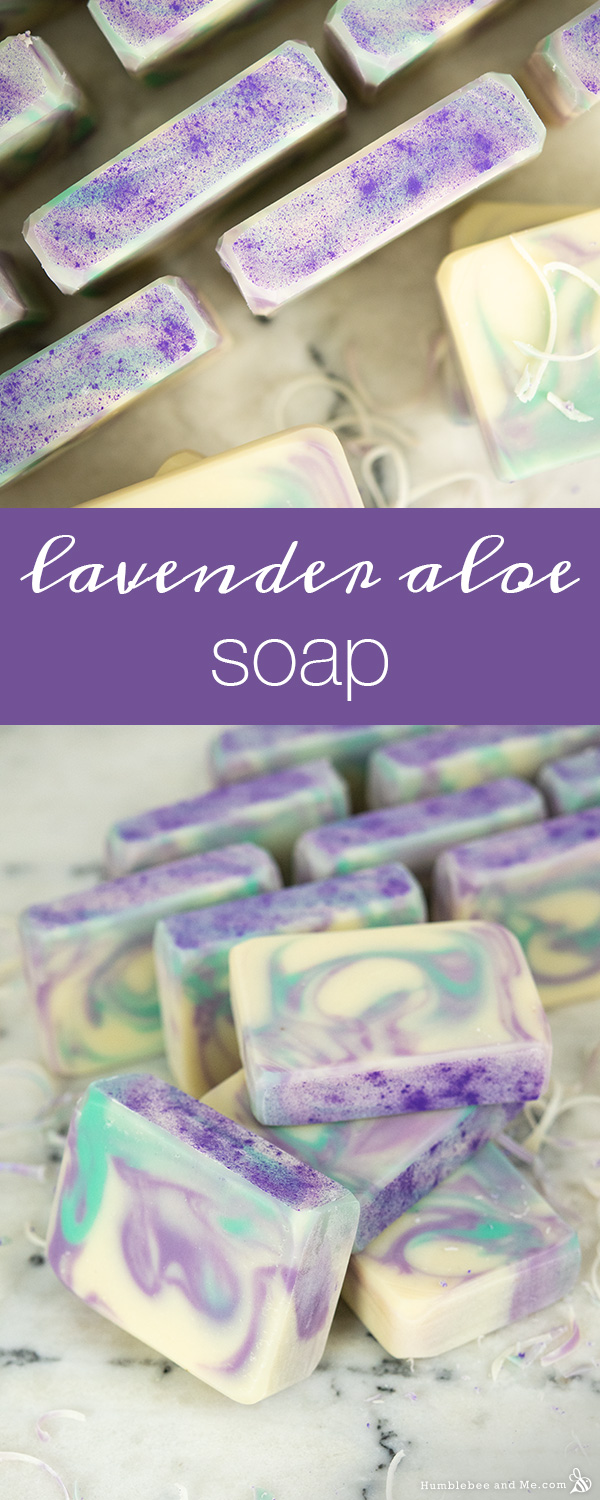 How to Make Lavender Aloe Soap