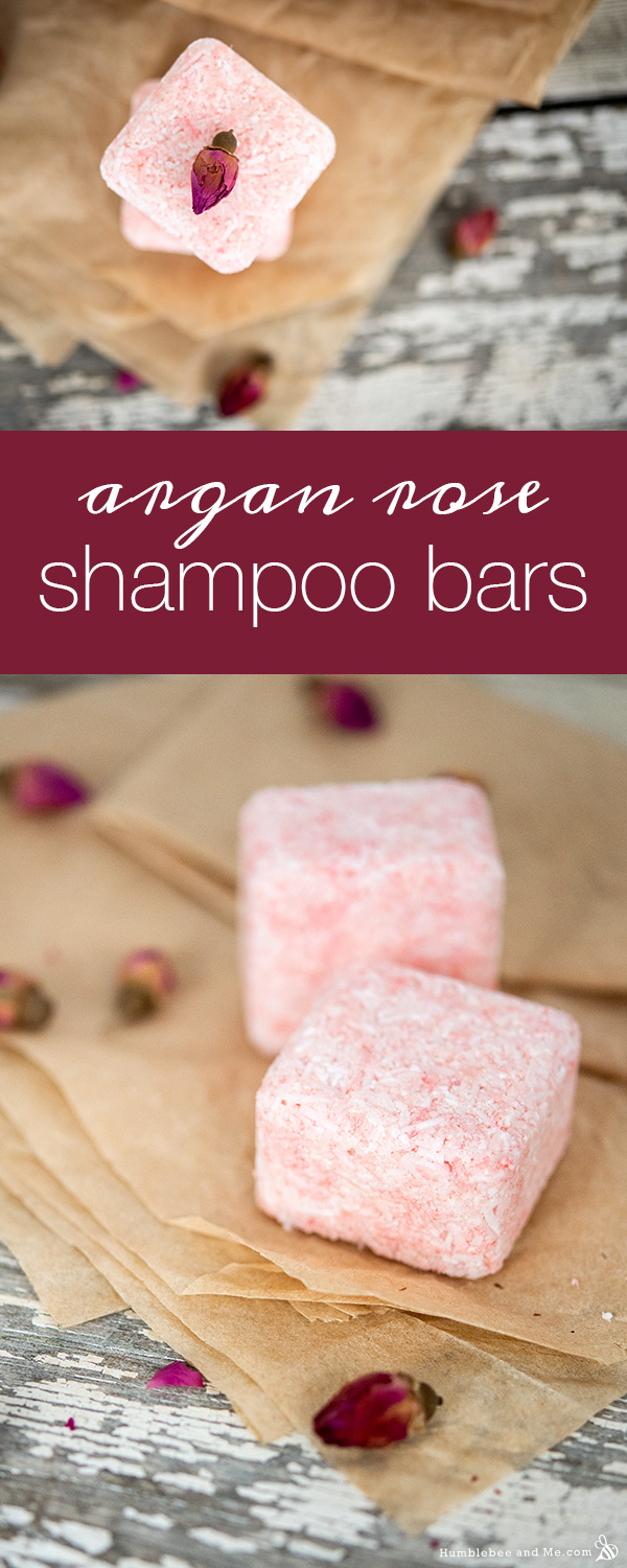 How to Make Argan Rose Pressed Shampoo Bars