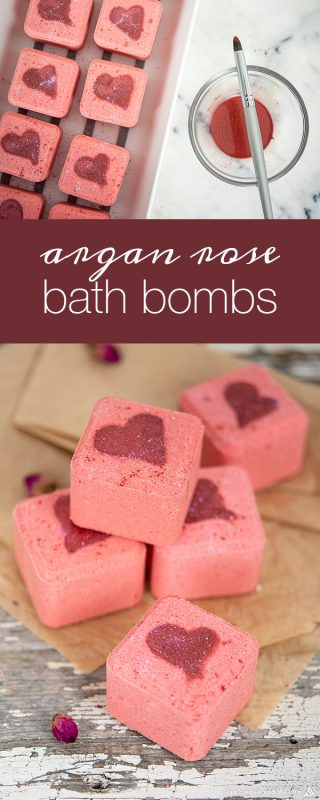 Argan Rose Valentine Bath Bombs