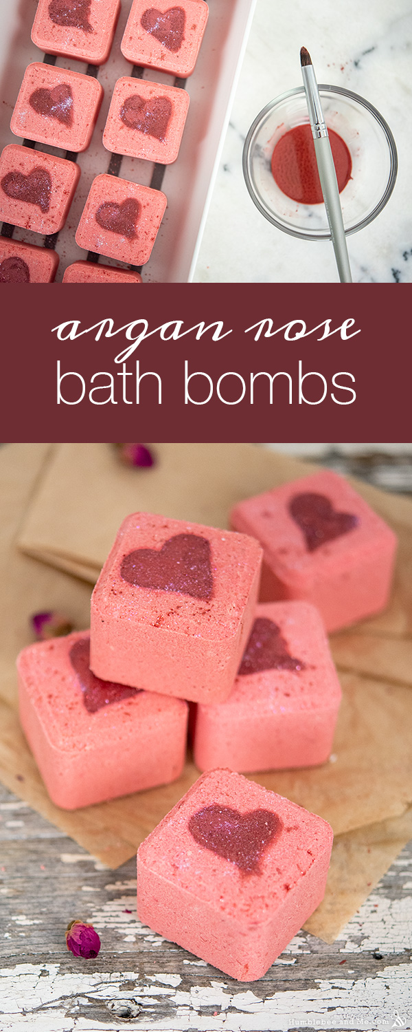 How to Make Argan Rose Valentine Bath Bombs