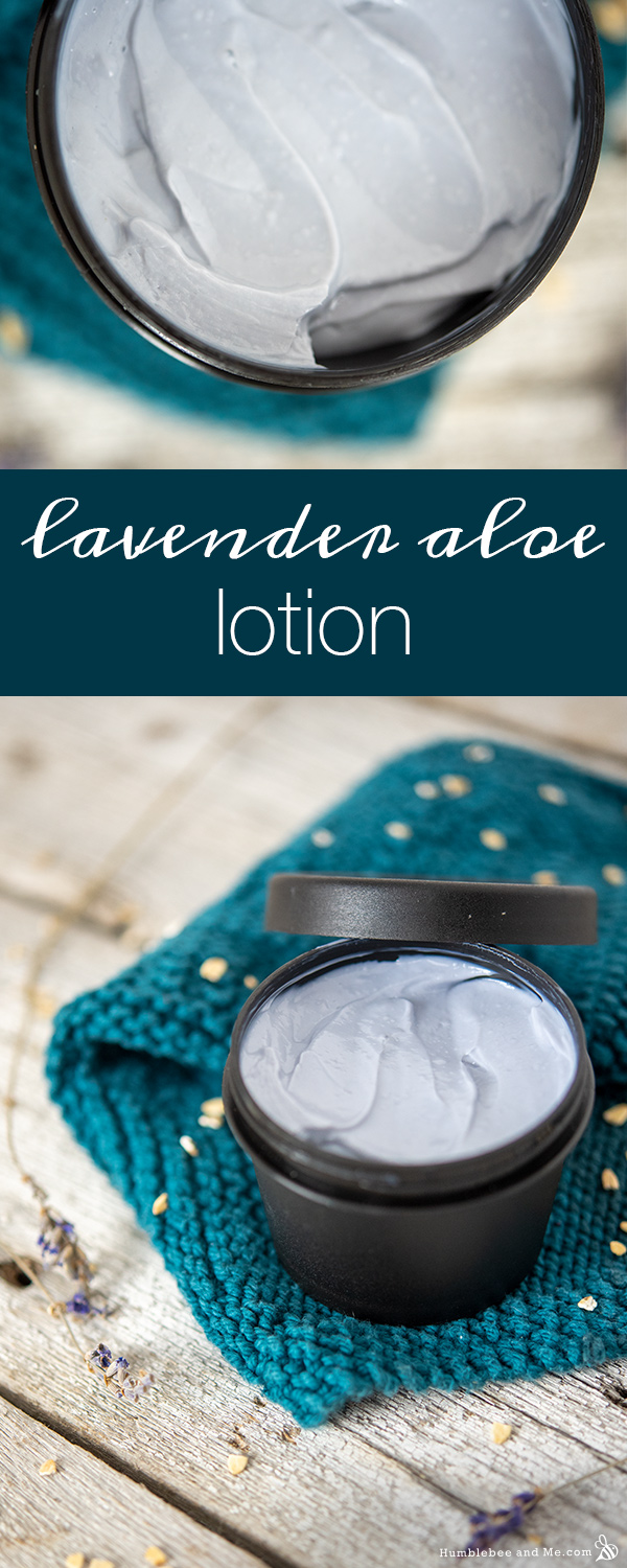 How to Make Lavender Aloe Lotion