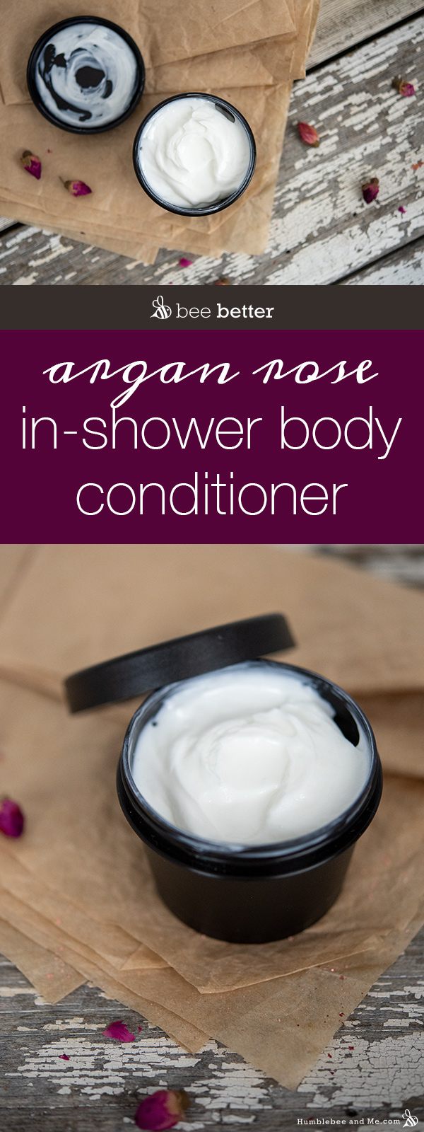 How to Make Argan Rose In-Shower Body Conditioner
