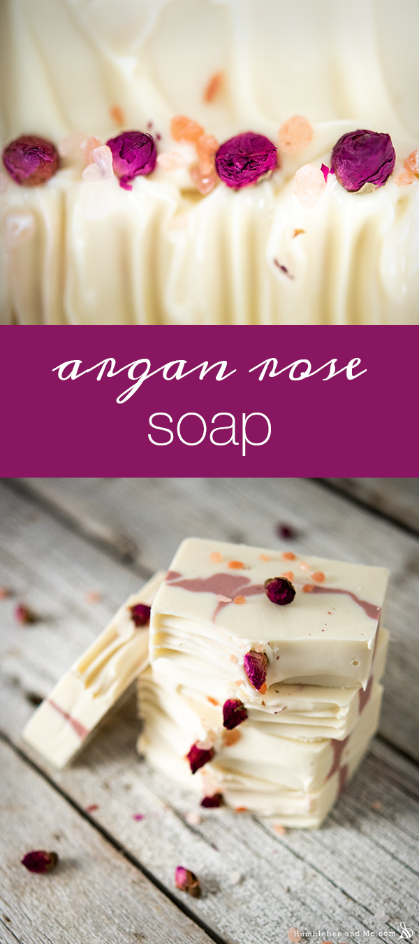 How to Make Argan Rose Soap