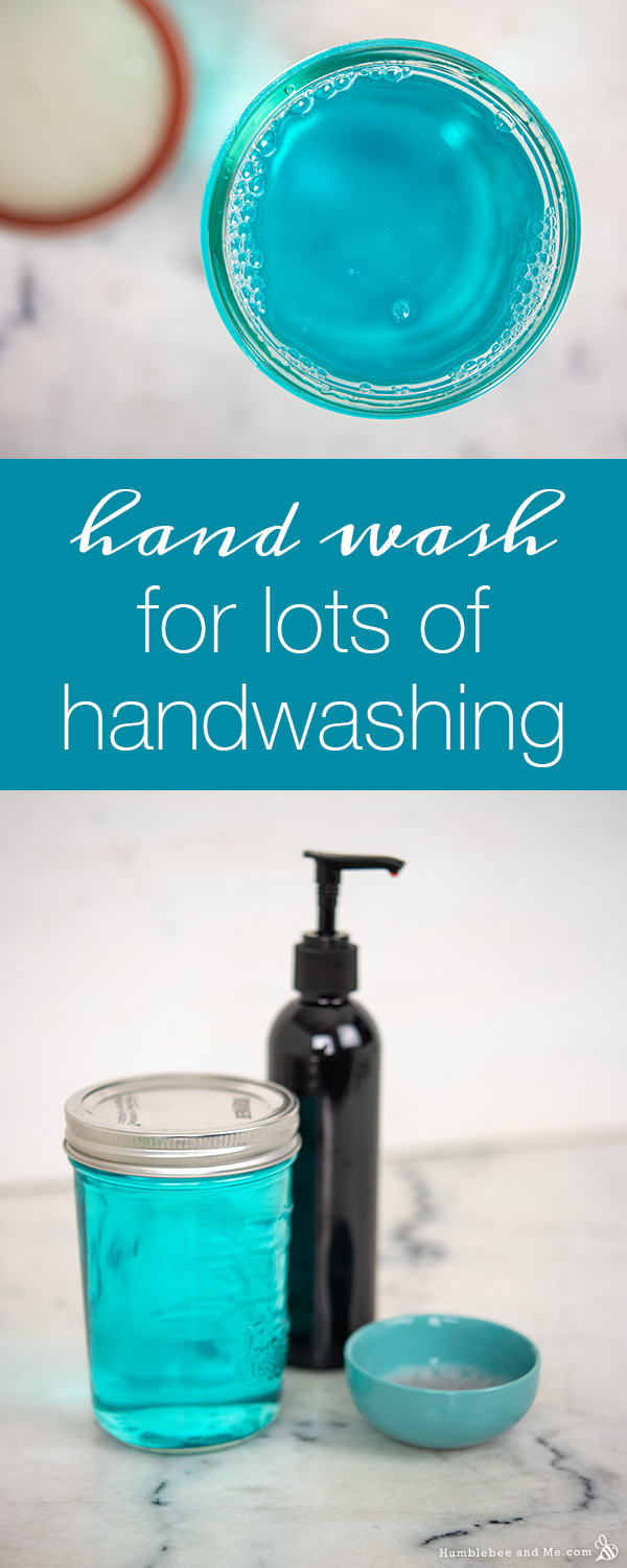 How to Make Hand Wash for Lots of Handwashing