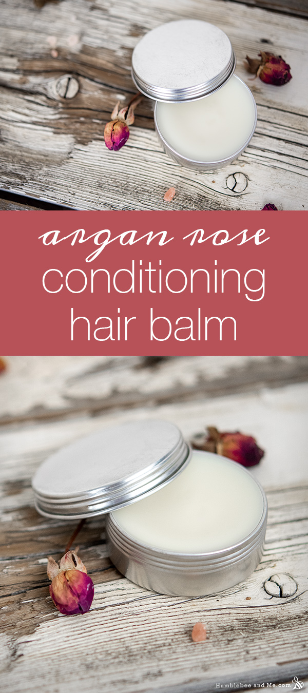 How to Make DIY Argan Rose Conditioning Hair Balm