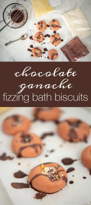 Chocolate Ganache Fizzing Bath Biscuits