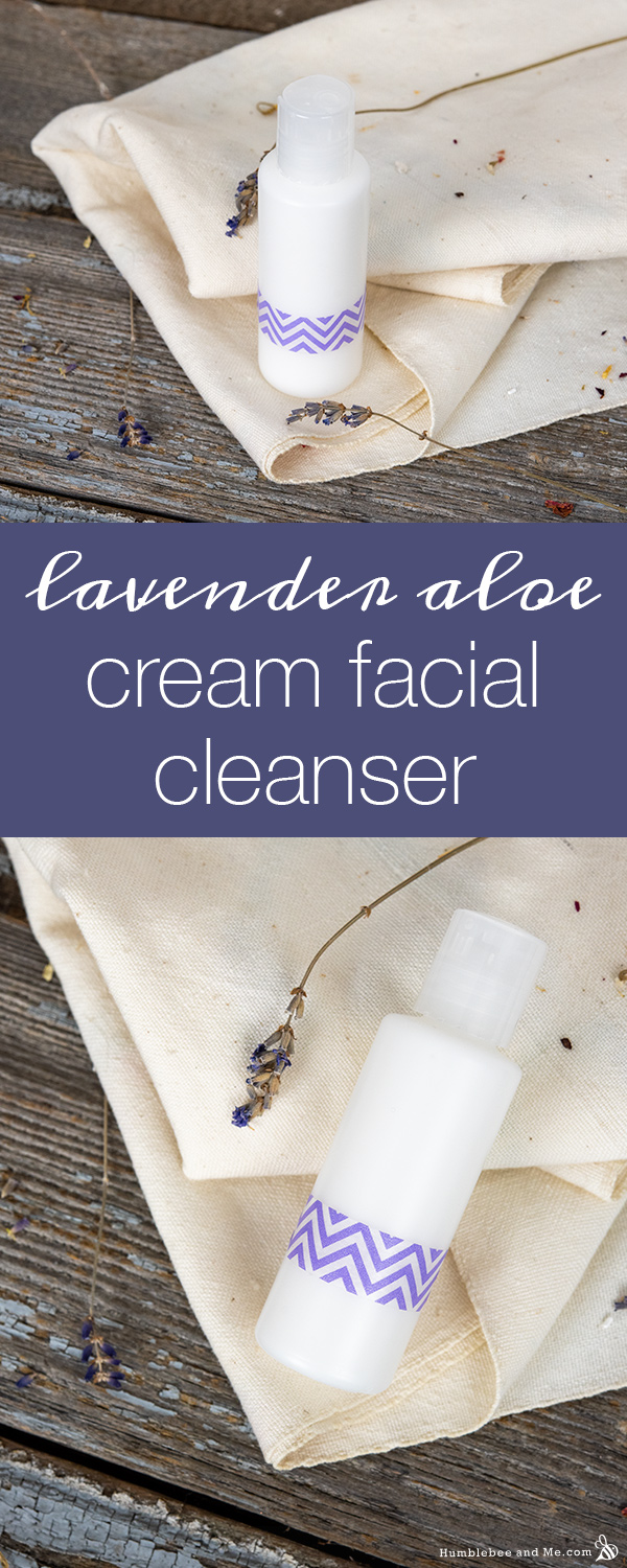 How to Make Lavender Aloe Cream Facial Cleanser