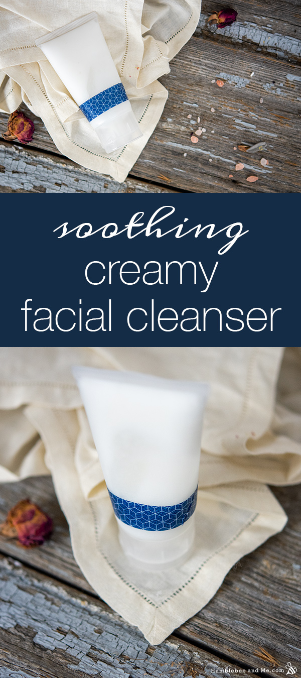 How to Make Soothing Creamy Facial Cleanser
