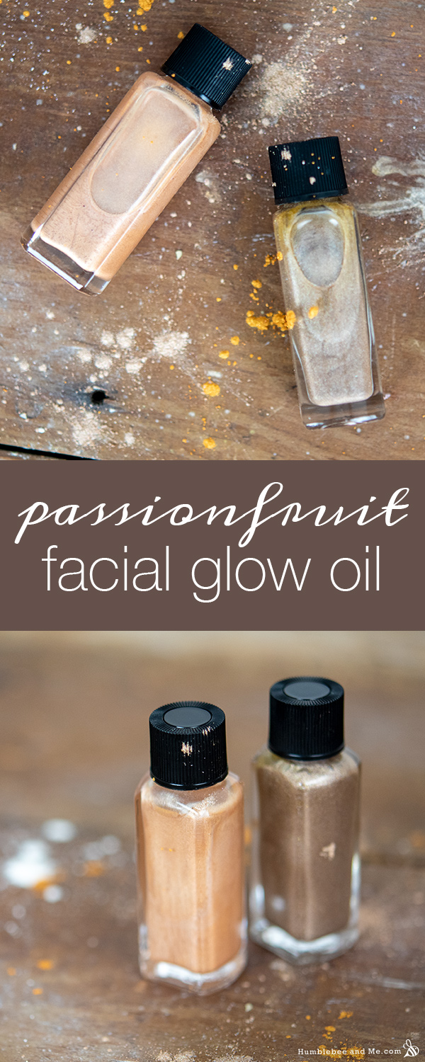 How to Make Passionfruit Facial Glow Oil