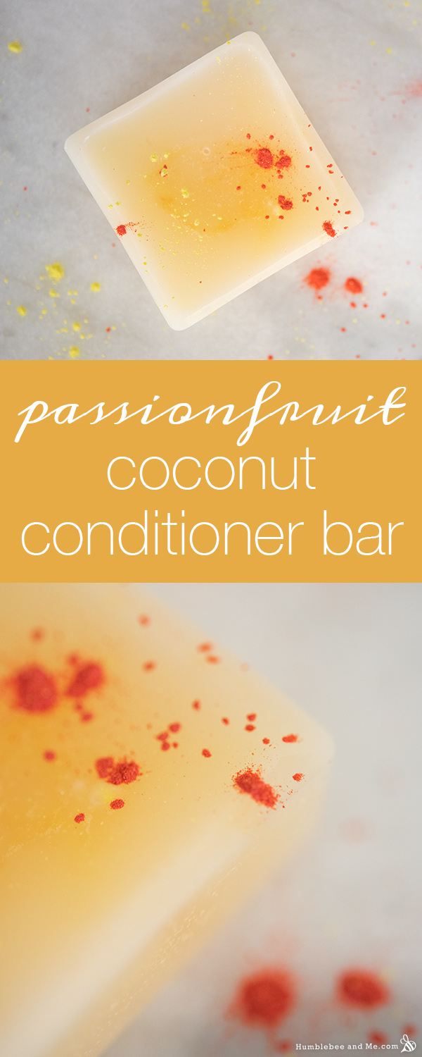 How to Make a Passionfruit Coconut Conditioner Bar