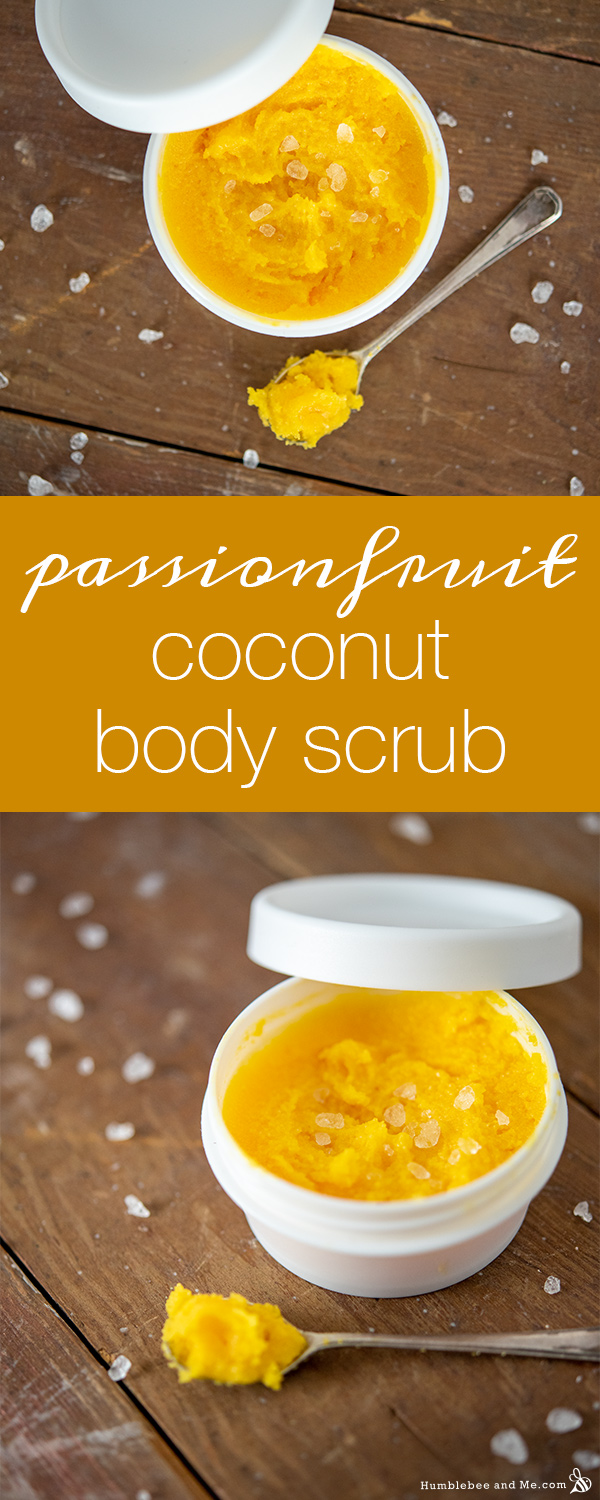 How to Make Passionfruit Coconut Body Scrub