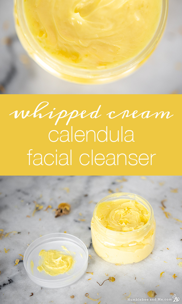 How to Make Whipped Cream Calendula Facial Cleanser