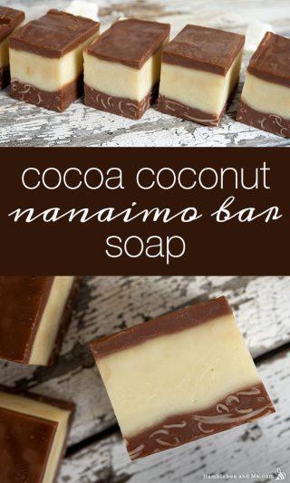 Vegan Cocoa Coconut Nanaimo Bar Soap