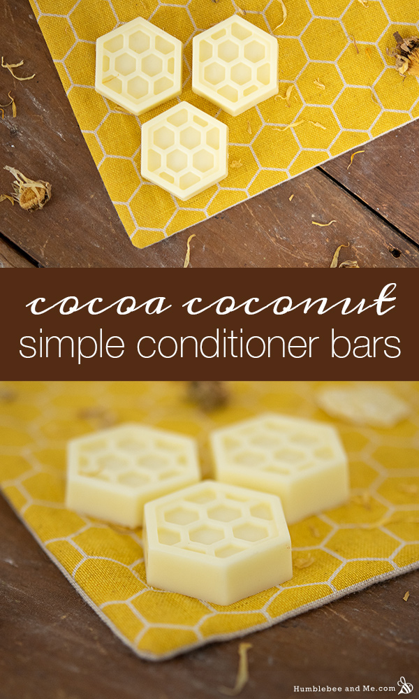 How to Make Cocoa Coconut Simple Conditioner Bars