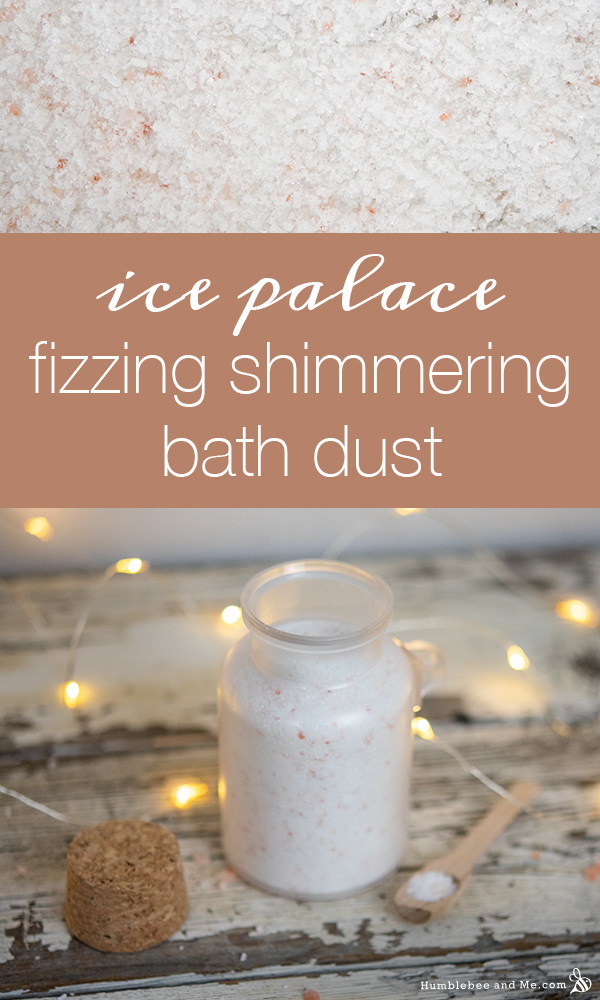 How to Make Ice Palace Fizzing Shimmering Bath Dust