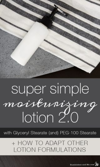 Super Simple Moisturizing Lotion with Glyceryl Stearate (and) PEG-100 Stearate