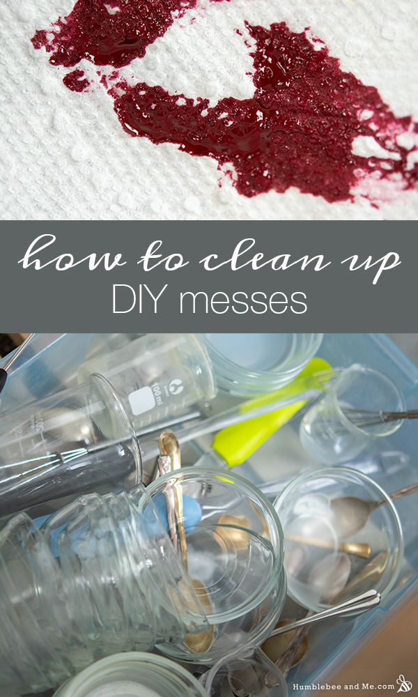 How to clean up DIY messes