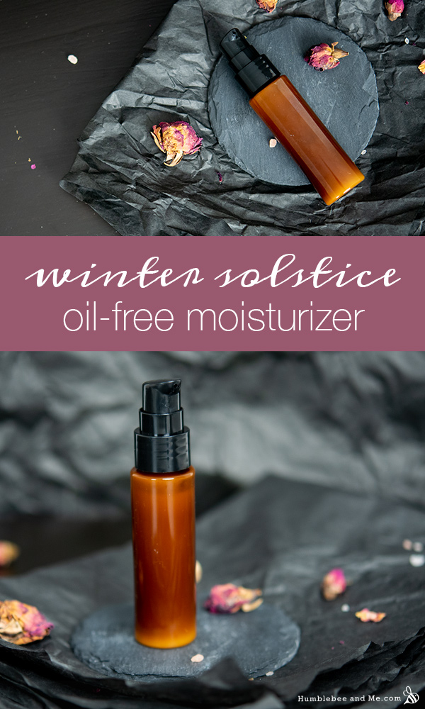 How to Make Winter Solstice Oil-Free Facial Moisturizer