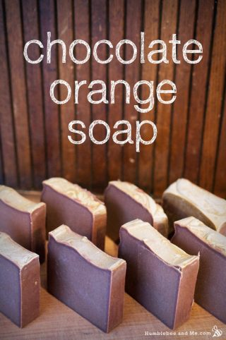 Chocolate Orange Christmas Soap