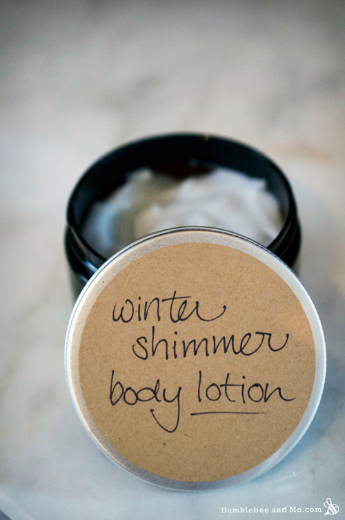 How to Make Winter Shimmer Body Lotion