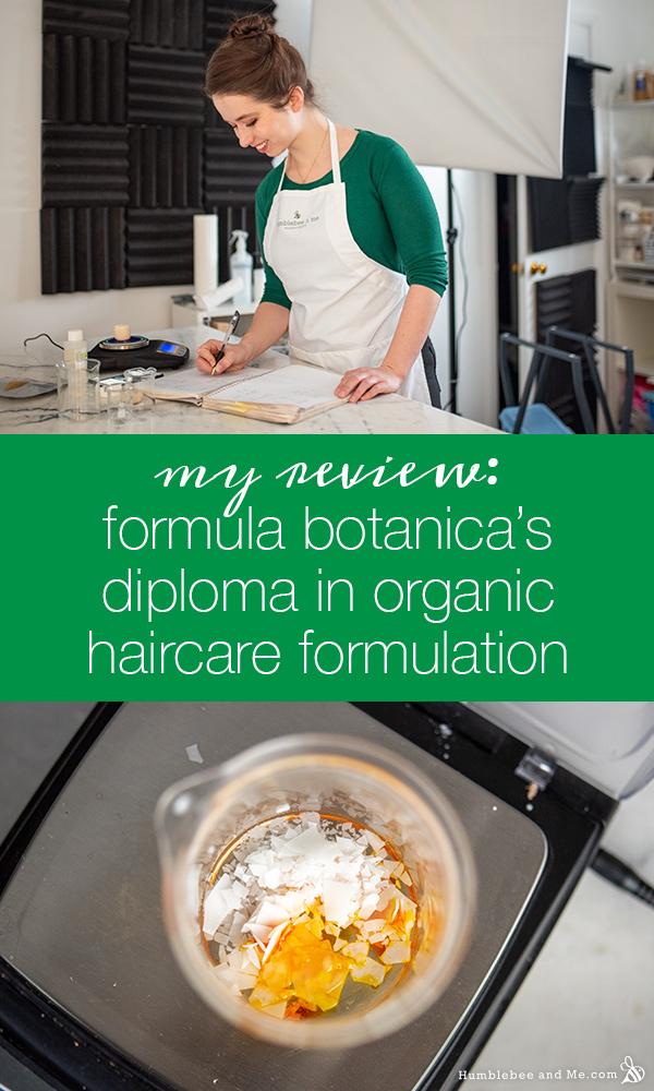 My Formula Botanica Review: Diploma in Organic HaircareFormulation
