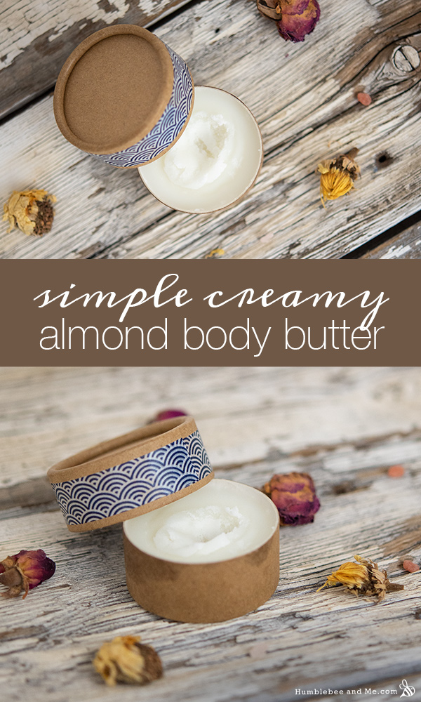 How to Make Simple Creamy Almond Body Butter