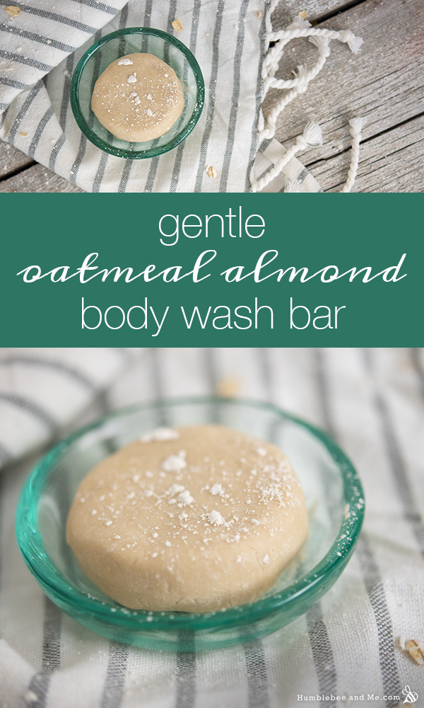 How to Make a Gentle Oatmeal Almond Body Wash Bar