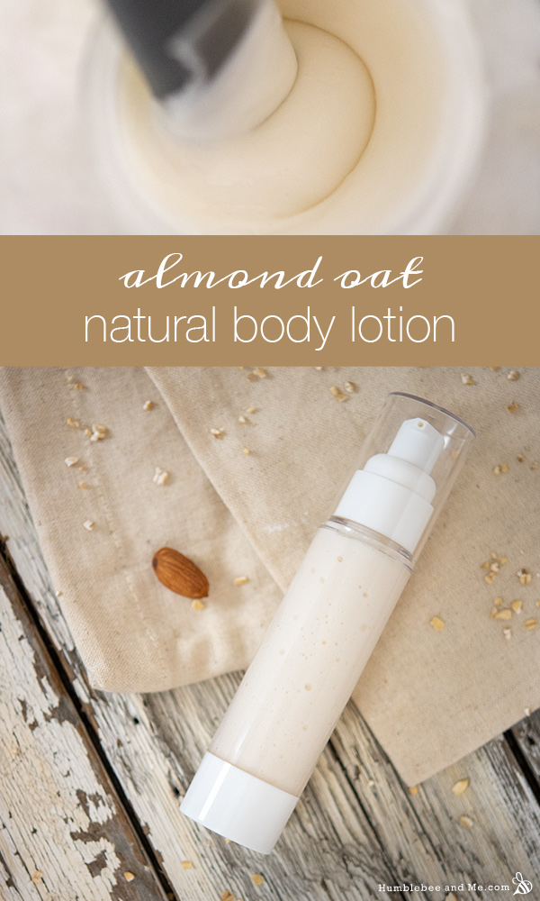 How to Make Almond Oat Natural Body Lotion
