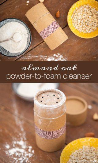 Almond Oat Powder to Foam Facial Cleanser