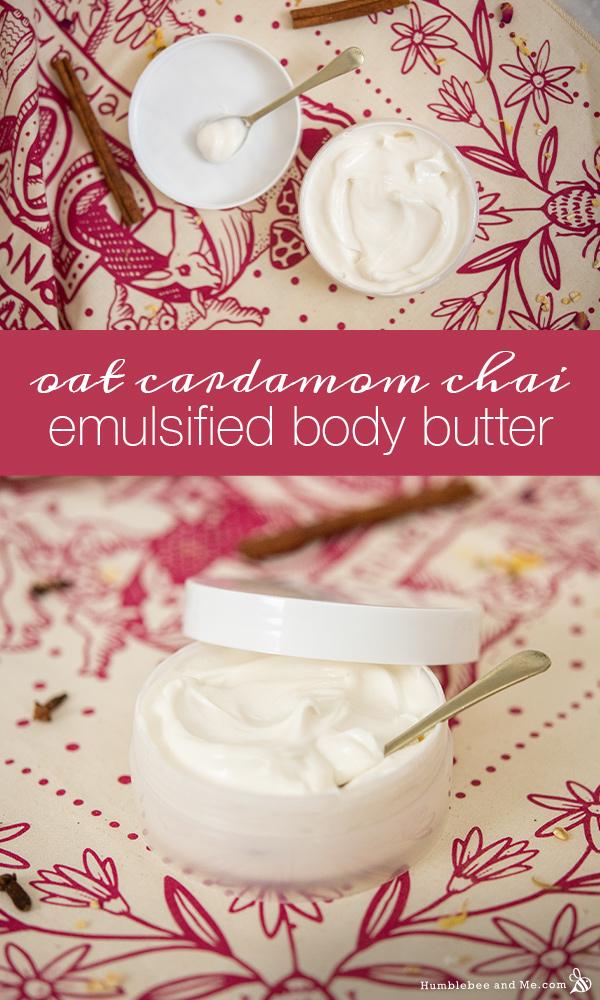 How to Make Oat Cardamom Chai Emulsified Body Butter