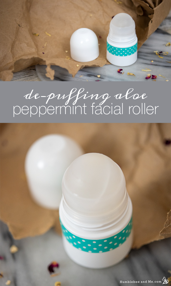 How to Make De-Puffing Peppermint Aloe Face Roller