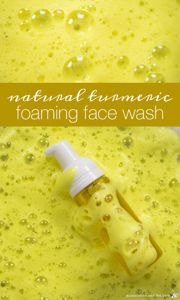 How to Make Natural Turmeric Foaming Face Wash