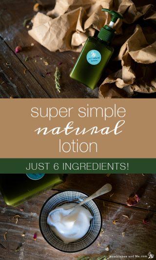 Super Simple Natural Lotion