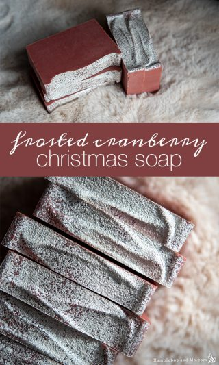 Frosted Cranberry Christmas Soap