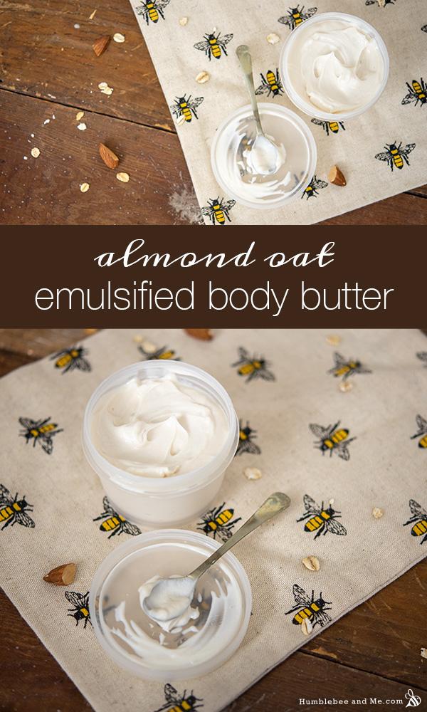 How to Make Almond Oat Emulsified Body Butter