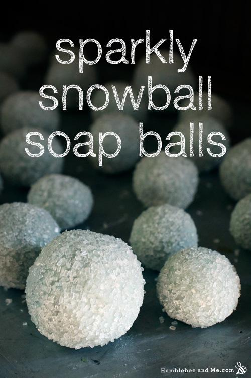 Sparkly Soap Snowballs