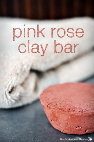 Pink Rose Clay Bar